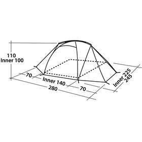 Easy Camp Equinox 200 - Tente - vert